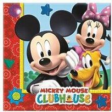 Serviette de table Mickey (x20) REF/LMIC81510