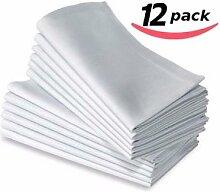 Serviettes de table en coton, linge de table blanc