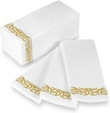 Serviettes de Table jetables en papier, 50