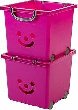 set - 2 grandes boîtes de rangement pour jouet