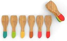 Set 6 spatules à raclette bambou Pebbly