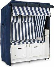 Set Abri plage cabine chaise longue 2 places