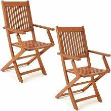 Set de 2 chaises de jardin pliantes