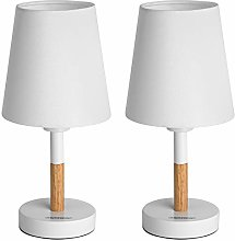 Set de 2 lampe de chevet blanc 40W Lampes de table