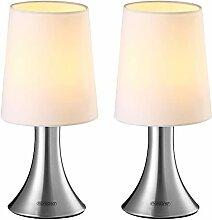 Set de 2 lampes de table Cahaya E14 Lampe à poser