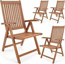 Set de 2 ou 4 chaises pliantes Vanamo en bois