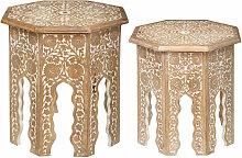 Set de 2 tables d'appoint en Bois de Manguier
