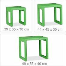 Set de 3 tables basse gigognes empilable bois