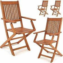 Set de 4 chaises de jardin pliantes
