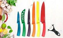 Set de 6 couteaux de cuisine anti-bactériens et