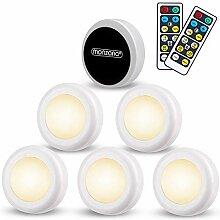 Set de 6 spots sous meuble LED Lampe de placard