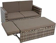 Set de meubles de jardin en polyrotin Ensemble