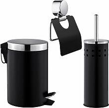 Set de Salle de Bain Toilettes WC Design 3 Pièces