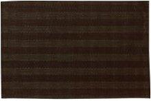 Set de table stripes chocolat 30 x 45 cm les