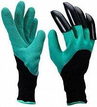 Set deux gants de jardinage avec articles integres