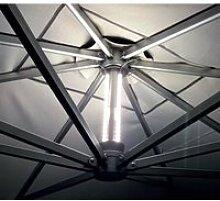 Set éclairage à led professionnel pour parasols
