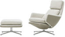 Set fauteuil & repose-pieds Grand Relax & Ottoman