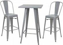 Set table mange-depout + 2x tabouret de bar