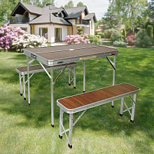 ®Set Table pliante d'appoint portable+2