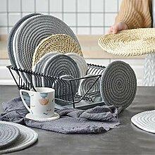 Sets de table en paille naturelle pour table de