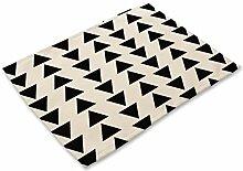 Sets de Table lavables Noir Modèle géométrique