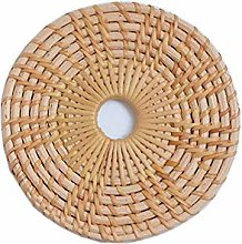 Sets de table ronds en rotin naturel avec paille
