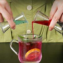 Shaker à cocktail 10/20ml ou 20/40ml, tasse à