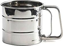 Shaker de cuisine en acier inoxydable pour poudre,