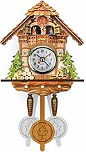 shandianniao Horloge Cuckoo en Bois réel avec Un