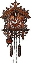 Shanji Horloge à coucou en bois - Style rétro -