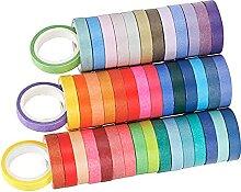 sharprepublic 60Rolls Coloré Washi Tape Set,