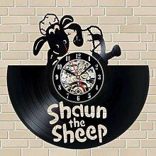 Shaun Le Mouton Vinyle Horloge Murale LP Record