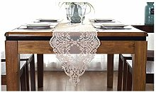 SHENGLI Nappe de table en dentelle pour meuble TV,