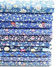 Shifwe Lot de 10 tissus en coton à motif floral