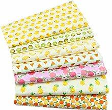 Shifwe Lot de 7 tissus en coton à motif floral