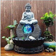 SHIJIE1701AA Fontaine Zen d'interieur Résine