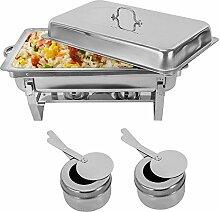 SHIOUCY Fondue Buffets Chauffant Chafing Dish