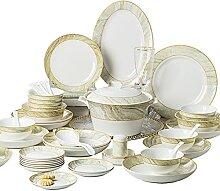 SHUISHUI Céramique vaisselle plats ensemble os