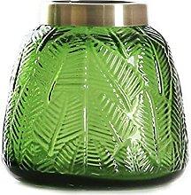 SHUMACHENG2020 Vase Vase sculpté en Verre avec