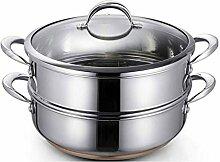 SHUUY 2 Tier Food Steamer Pan Marmite-Tier avec