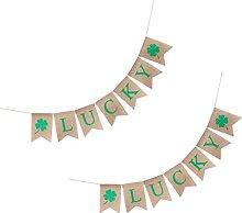 SHWYSHOP 2 pièces St.Patricks Jour Toile de Jute