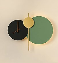 SHYPT Lampe Murale LED Horloge Ronde Lampe Murale