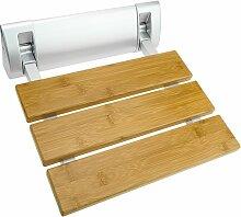Siège de douche rabattable. Chaise pliant en bois