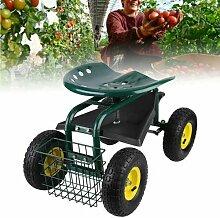 Siège roulant pour jardinage, siège de jardin