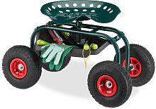 Siège sur roues pour jardin, réglable en