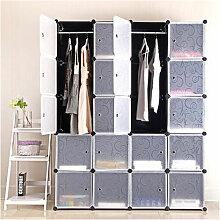SiFree®20-Cube Armoire de Chambre avec porte