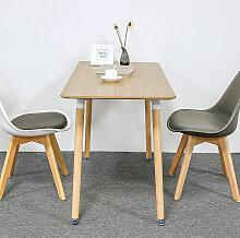 Sifree - Ensemble à manger 1 table en bois et 4