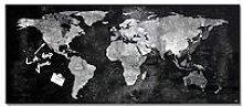 Sigel Tableau verre carte du monde SIGEL 55 x 130
