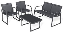 Sigtua – ensemble de meubles de jardin 4 places,