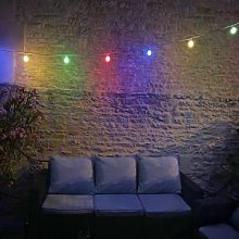 SILAMP Guirlande Guinguette LED 8M 10pcs 3W IP65